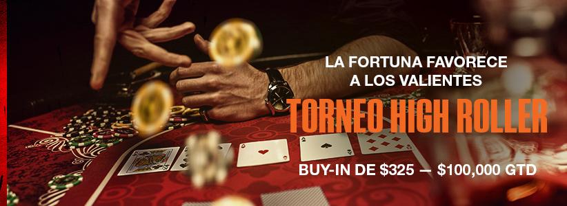 Torneo High Roller $ 100 000 GTD en Ignition Casino