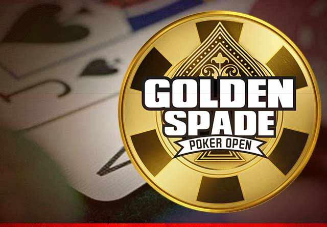 金黄色铲扑克打开
